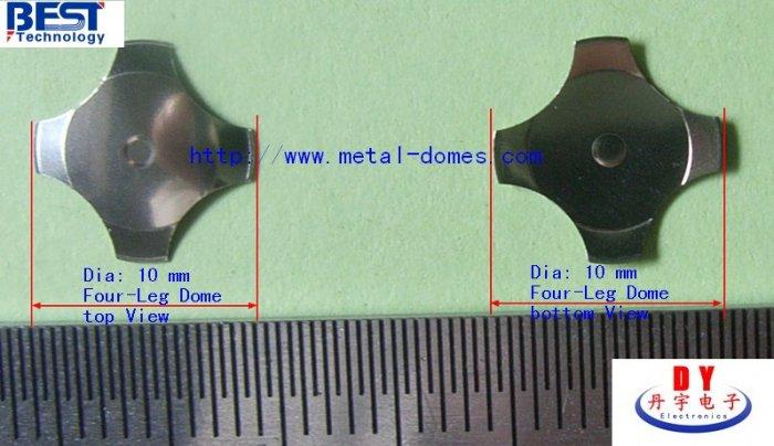 10mm Four-legs Metal Dome 450gf