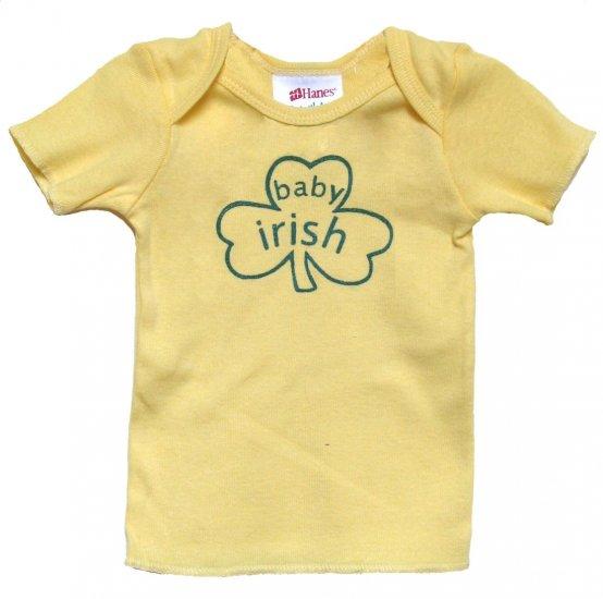 Baby Irish Shamrock Yellow Shirt (6, 12 & 24 mos.)