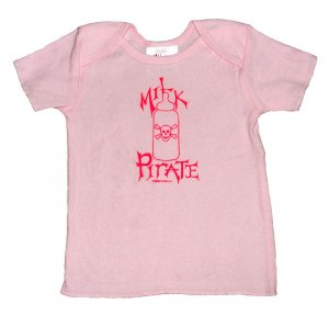 Milk Pirate Baby Bottle with Skull Pink (6, 12, 18, 24mos.)