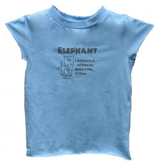 Elephant Loxodonta Africana Herbivore Blue Shirt (Girls 2T, 4T and 6)