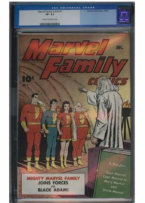 Marvel Family #1 (CGC 7.5) Graded Comic Book