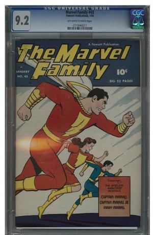 Marvel Family #43 (CGC 9.2) Highest Graded!