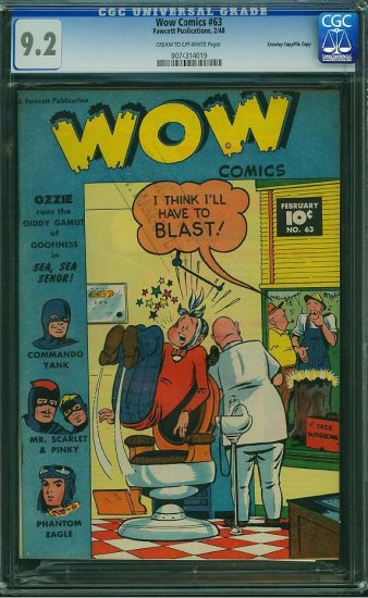 WOW Comics #63 (CGC 9.2) File Copy - 2ND HIGHEST GRADED