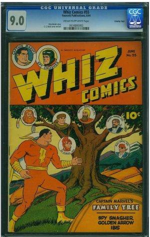 Whiz Comics #55 (CGC 9.0) HIGHEST GRADED