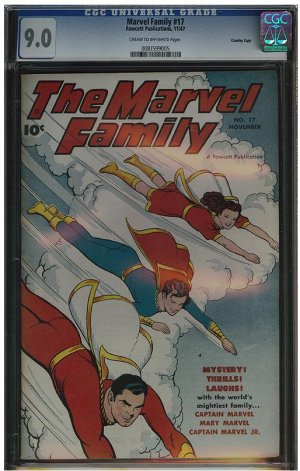 Marvel Family #17 (CGC 9.0) Highest Graded!