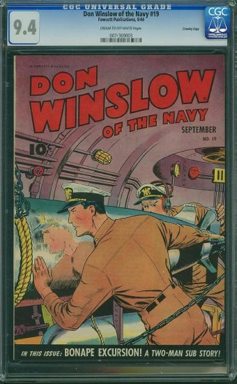 Don Winslow #19 (CGC 9.4) - HIGHEST GRADED