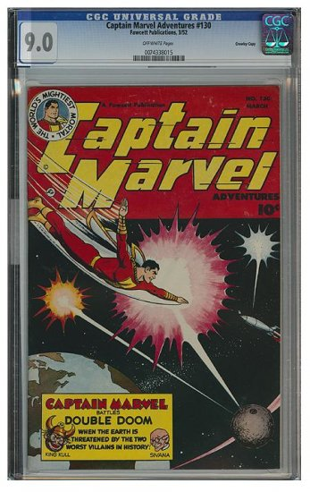 Captain Marvel Adventures #130 (CGC 9.0) 2ND HIGHEST