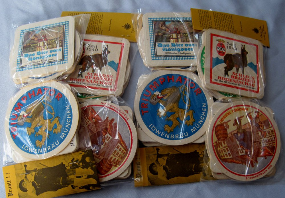 Vintage German Beer Advertising Coaster Assortments Lowenbrau