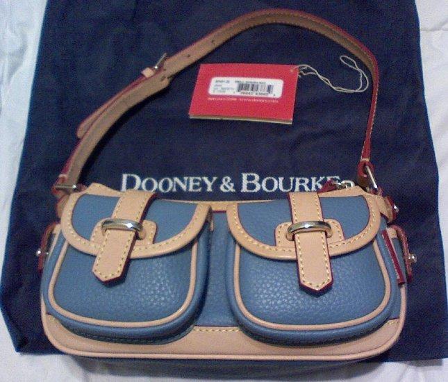 Dooney and Bourke Small Blue Banana bag - like new!