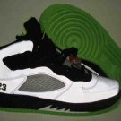 Men jordan Fusions Green White and Black