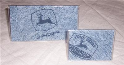 John Deere Denim Checkbook Cover Set