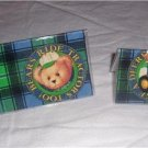 John Deere Blue Jean Teddy Checkbook Cover Set