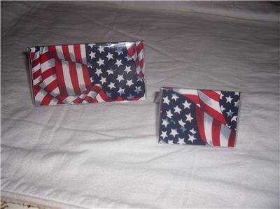 American Flag Checkbook Cover Set
