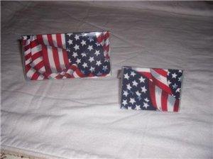 American Flag Checkbook Cover Set
