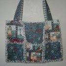 Freedom Ahoy Rag Quilt Tote Bag