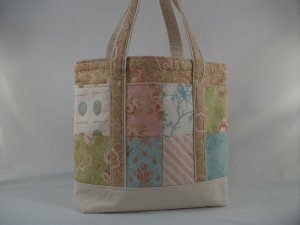 Aviary Pastel Patchwork Large Tote Bag