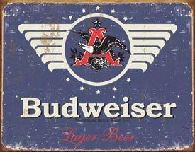 Budweiser Beer Logo Tin Sign #1383
