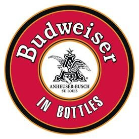 Budweiser Beer Round Tin Sign #1157