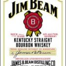 Jim Beam White Label Tin Sign #1061
