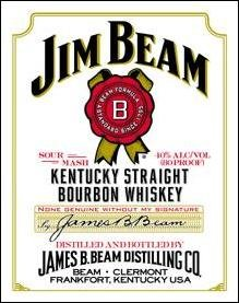 Jim Beam White Label Tin Sign #1061