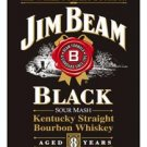 Jim Beam Black Label Tin Sign #1066
