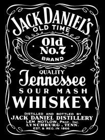 Jack Daniel's Whiskey Black Label Tin Sign #780