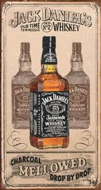 Jack Daniel's Charcoal Whiskey Tin Sign #1224