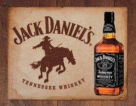 Jack Daniel's Tennessee Whiskey Bronco Tin Sign #1136