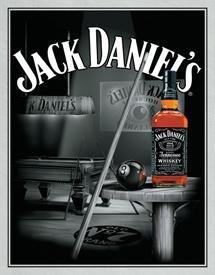 Jack Daniel's Billiards Pool Hall Tin Sign #1135