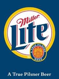 Miller Lite Beer Bottle Logo Tin Sign #872