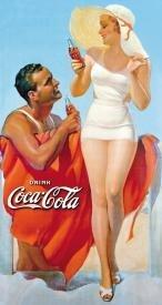 Coca-Cola Beach Towel Tin Sign #1051