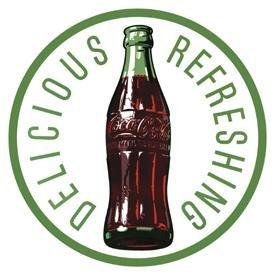 Coca-Cola Bottle Round Tin Sign #1071