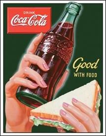 Coca-Cola Good With Food Tin Sign #1226