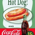 Coca-Cola Hot Dog And Bottle Tin Sign #1048