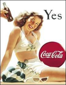 Coca-Cola White Swimsuit Girl Tin Sign #1056