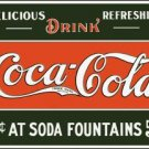 Coca-Cola Soda Fountains Tin Sign #1052