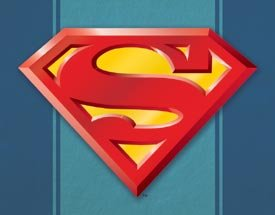 Superman Logo Tin Sign #1484