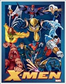 Marvel X Men Collage Tin Sign #1264