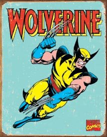 Marvel Wolverine Tin Sign #1480