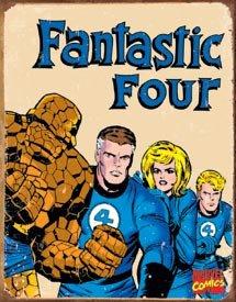 Marvel Fantastic Four Retro Tin Sign #1479