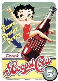 Betty Boop Boopsi Cola Tin Sign #254