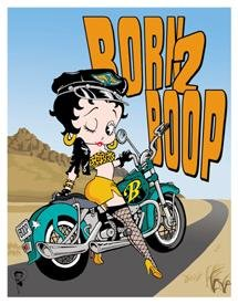 Betty Boop Born To Boop Motorcycle Tin Sign #1035