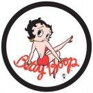 Betty Boop Red Dress Round Tin Sign #1010