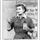Love Lucy Show Vitameatavegamin Tin Sign #865