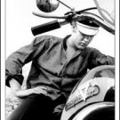 Elvis Presley With Motorcycle Tin Sign #948