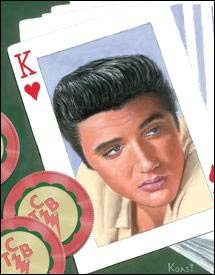 Elvis Presley Deck Of Cards Tin Sign #1143