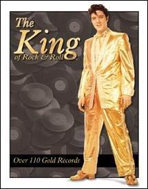 Elvis Presley Gold Suit Tin Sign #879