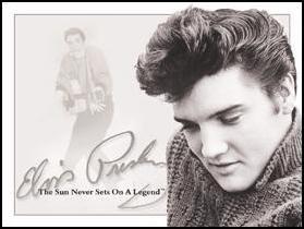 Elvis Presley Sun Never Sets Portrait Tin Sign #934