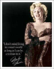 Marilyn Monroe Man's World Tin Sign #1492