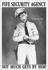Andy Griffith Show Barney Fife Security Tin Sign #809